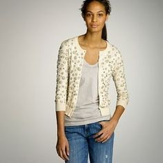 embellished sweaters toned down with distressed jeans & a good quality plain t shirt