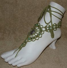 Crochet Barefoot Sandals Pattern Free | Crochet Barefoot Sandals Beaded Barefoot…