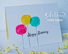 Just another lazy ' Balloon Happy'  day | AWW by Cathy Caines @Stampin' Up!