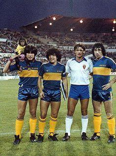 Perotti, Diego y Benitez Retro Football, Football Design, World Football, Football Kits, Sport Football, Premier League, Real Zaragoza, Diego Armando, Legends Football