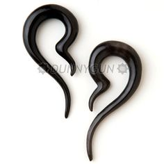 8G Horn Wisp Gauged Plugs Hand Carved Organic Body by Dunnygun, $14.99