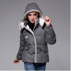Moncler Blouson Femme - Nouveau Moncler Down Coat Femme Gris