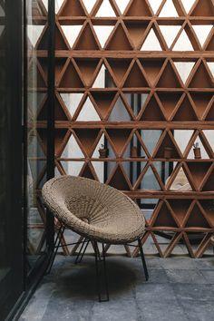 Three lovely hotels in Oaxaca Brick Design, Wall Design, Exterior Design, House Design, Divider Design, Living Room Partition, Room Partition Designs, Casa Hygge, Architecture Details