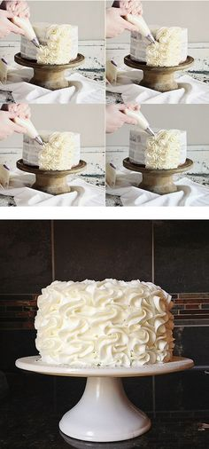 frilly cake  So simple and elegant!