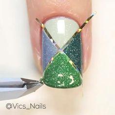 Sparkly Nail Designs, Square Nail Designs, Sparkly Nails, Simple Nail Art Designs, Cute Nail Art, Nail Art Diy, Easy Nail Art, Diy Nails, Nail Nail