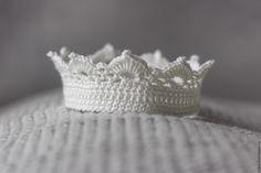 Купить Корона вязаная для фотосессий - желтый, корона для фотосессии, корона для…