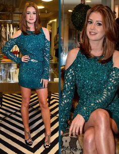 Marina Ruy Barbosa Elegant Woman, Sparkly Shorts, Girl Fashion, Fashion Looks, Scarlett, Evening Outfits, Beautiful Redhead, Dress Me Up, Gorgeous Women