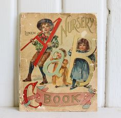 Your place to buy and sell all things handmade Vintage Nursery Decor, Chic Nursery, Shabby Chic, Bros, Illustrations, Old Paper, Vintage Ephemera, Decoration, Childrens Books