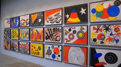 Alexander Calder, Installation View at L & M Arts Gallery, 21 Gouache on Paper pieces ranging from 1962 through 1976, 29 x 43.25 each