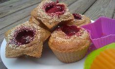 Zdravé jahodové muffiny