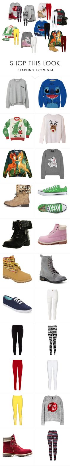 """Sweater Weather"" by emmaf365 on Polyvore featuring MANGO, Markus Lupfer, DbDk, Converse, Refresh, Timberland, Avoce, Keds, River Island and New Look"