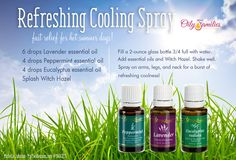 Refreshing Summer Cooling Spray/Mist  to learn more about these oils visit www.essentialoillover.com #essentialoillover