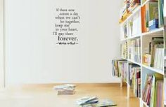 """Winnie the Pooh wall decal """"if ever there comes a day when we can't be together..."""""""