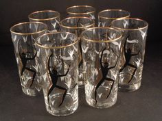 Barware Collection - LIBBEY - CAVE PAINTING - HIGHBALL GLASSES