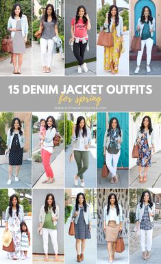 A denim jacket is such a versatile piece! Wear it in casual looks or athleisure outfits, or pair it with skirts and dresses to dress them down a bit. Today I'm showing tons of 15 denim jacket outfits ideas plus sharing tips for finding the perfect one.