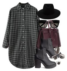 """""""Style #11256"""" by vany-alvarado ❤ liked on Polyvore featuring Yves Saint Laurent, H&M, rag & bone and Forever 21"""