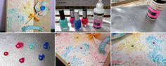 Cómo hacer Enamel dots caseras para decorar proyectos de scrap | Portaldelabores.com | Portal de labores