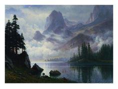 Montagne dans la brume reproduction procédé giclée