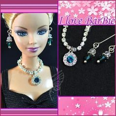 dolls jewelry set doll necklace and earring for barbie by sinogem Barbie Dolls For Sale, Barbie And Ken, Jewelry Model, Jewelry Sets, Barbie Clothes Patterns, Doll Clothes, Barbie Bridal, Barbie Wardrobe, Barbie Hair