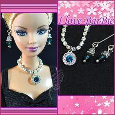 dolls jewelry set doll necklace and earring for barbie by sinogem Barbie Hair, Barbie Dolls, Barbie Clothes Patterns, Doll Clothes, Clothing Patterns, Barbie Bridal, Barbie Wardrobe, Diy Accessoires, Jewelry Design Earrings