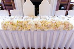 Massed Hydrangea, Rose & Peony Top Table