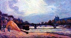 Le Pont des Arts by @art_guillaumin #impressionism