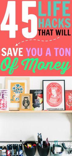 Life hacks. Save money. Saving money. Life hacks that will save you a ton of money. Ways to save money. All natural life hacks. Frugal living. Frugal and thrifty living. #savemoney #lifehacks #frugal #frugalthrifty