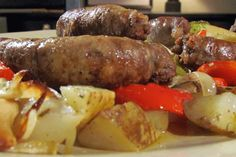 Roasted Sausage With Potatoes, Peppers, and Onions #KitchenBoss
