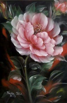 beautiful pink rose painting ♡
