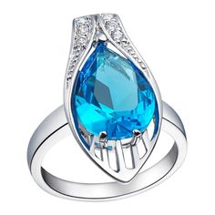 Find More Rings Information about Blue Stone Jewellery Rings Silver Plated Bijoux Femme Amethyst Teardrop Engagement Ring Women Red Crystal Anel Masculino J276,High Quality ring pull can opener,China ring navel Suppliers, Cheap ring gb from ULove Fashion Jewelry Store on Aliexpress.com