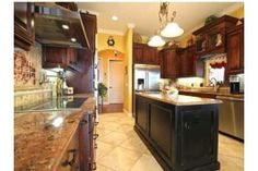nice kitchen with granite.  Good layout