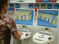 One of the latest dental technology tools used at Advanced Dental Cosmetic Center is CEREC®. The CEREC machine is a special computer that acts as a dental restoration tool, allowing Dr. T to restore decayed teeth, place dental crowns, remove defective amalgam dental fillings, or place porcelain dental veneers in just one appointment.