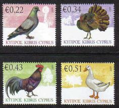 Cyprus Stamps SG 1194-97 2009 Domestic Fowl of Cyprus - MINT