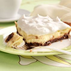 Chocolate Chip Banana Cream Pie Recipe from Taste of Home