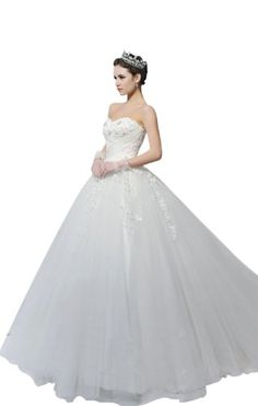 Biggoldapple Ball Gown Sweetheart Court Train Lace-up Tulle Wedding Dress With Draped/Appliques/Beading(11010170) 10 Ivory Biggoldapple,http://www.amazon.com/dp/B00BQ7IHDS/ref=cm_sw_r_pi_dp_3vOgsb08C17VBYPD