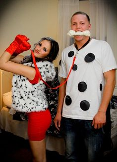 12 Genius DIY Couples Costumes for Halloween  sc 1 st  Pinterest & DIY Dalmatian and firefighter costume for Halloween!! | Crafts ...