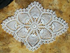Pattern is called Pineapple Delight in House of White Birches, Old-Time Doilies