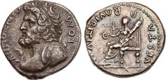 Aulus Vitellius (69). Denarius, 3.36 g, Fabius Valens (?), military mint, Southern Gaul, c.69. I O M CAPITOLINVS. Diademed and heroic bust of Jupiter Capitolinus left, small branch before, with slight mantle showing on near shoulder. / VESTA P R QVIRITIVM. Vesta seated left, holding patera and torch. RIC 125a; AM 96; BMC 72; RSC 432. Tom Peterson collection; Private purchase from Tom Cederline. Pre-Long Beach 91 (June 5, 2016), 1981. Very rare. Attractively toned. Choice VF. $2.900.
