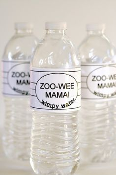 Personalized water bottles for #Diary of a Wimpy Kid Party from Keeping My Cents ¢¢¢
