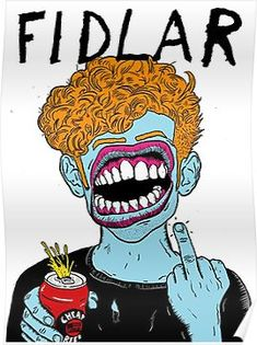 'Fidlar punk rock band' Poster by Tartian Arte Punk, Punk Art, Rock Band Posters, Punk Poster, Fashion Collage, Japanese Embroidery, Psychedelic Art, Art Inspo, Rock Bands