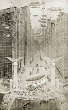 Seattle as imagined in 2014 - in the year 1914.