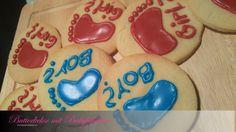 Butterkekse mit Babyfüßchen Butter, Sugar, Cookies, Desserts, Food, Goodies, Biscuits, Crack Crackers, Tailgate Desserts