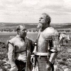 Don Quijote y Sancho Panza o Fernando Rey y Alfredo Landa