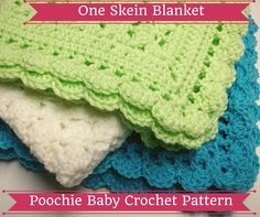 Crochet pattern for a one skein baby blanket. This is the perfect size for preemies and newborns... or even dolls.