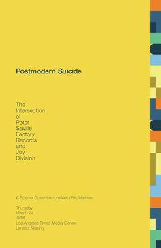 Postmodern Suicide - Peter Saville