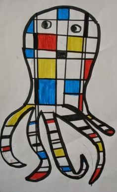 Mondrian-Inspired Animals