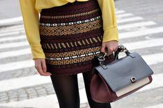 Color-block handbag