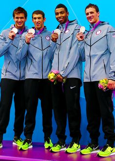 My three current fave male swimmers; Phelps (GO BLUE!), Lochte (ROC) and Jones!!  Add them to the list of Dolan, Malchow, Hall and Namesnik (RIP Eric).