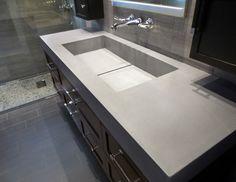 Custom concrete bathroom vanity sink by Trueform Concrete #concrete #sink #TrueformConcrete #OurSinks