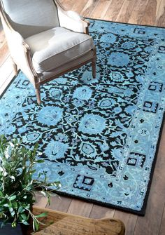Rugs USA Overdye RE30 Blue Rug. Rugs USA Summer Sale up to 80% Off! Area rug, carpet, design,   style, home decor, interior design, pattern, trend, statement,   summer, cozy, sale, discount, free shipping, blue.